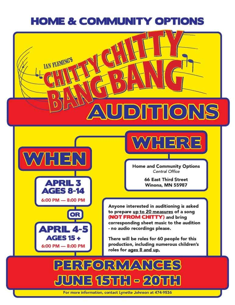 Chitty Audition Poster