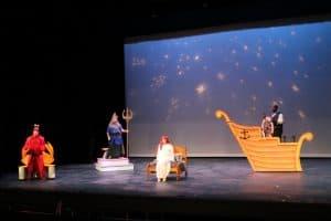 Sebastian, Triton, Ariel, and Eric