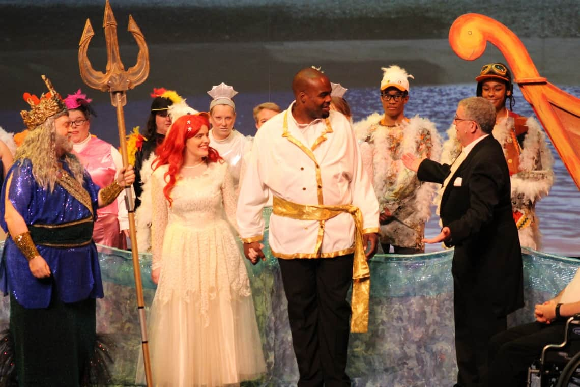 Triton, Ariel, Eric, Grimsby, Cast